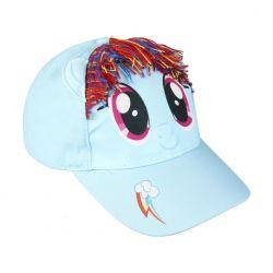 Dívčí 3D kšiltovka s barevnými vlasy My Little Pony velikost 53 cm / vecizfilmu