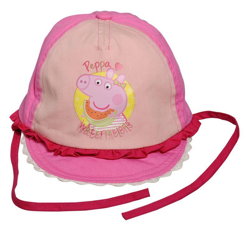 Dívčí letní klobouček na zavazování Prasátko Peppa / Peppa Pig 46 - 50 cm