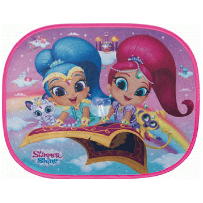 Sluneční clona do auta 2 ks Shimmer and Shine / vecizfilmu