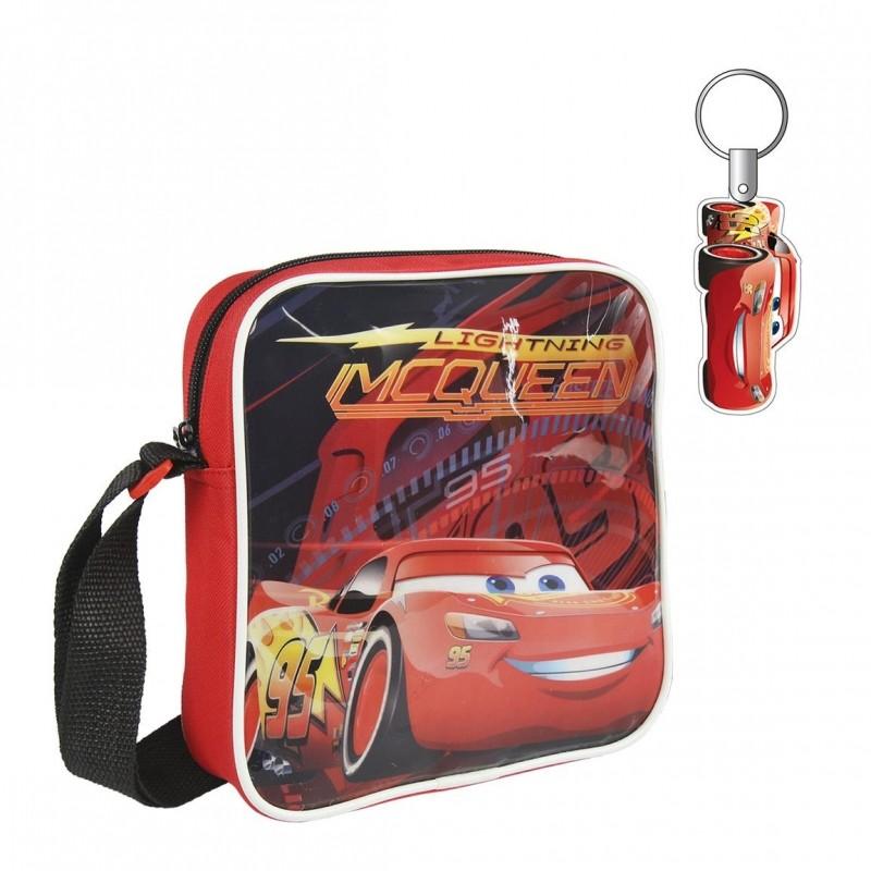 Taška na jedno rameno s klíčenkou CARS / AUTA / 16 x 19 x 4 cm