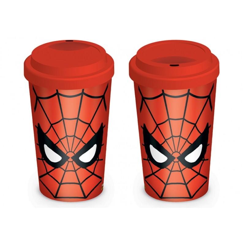 Keramický cestovní hrnek s víčkem Spiderman / Marvel Retro 340 ml