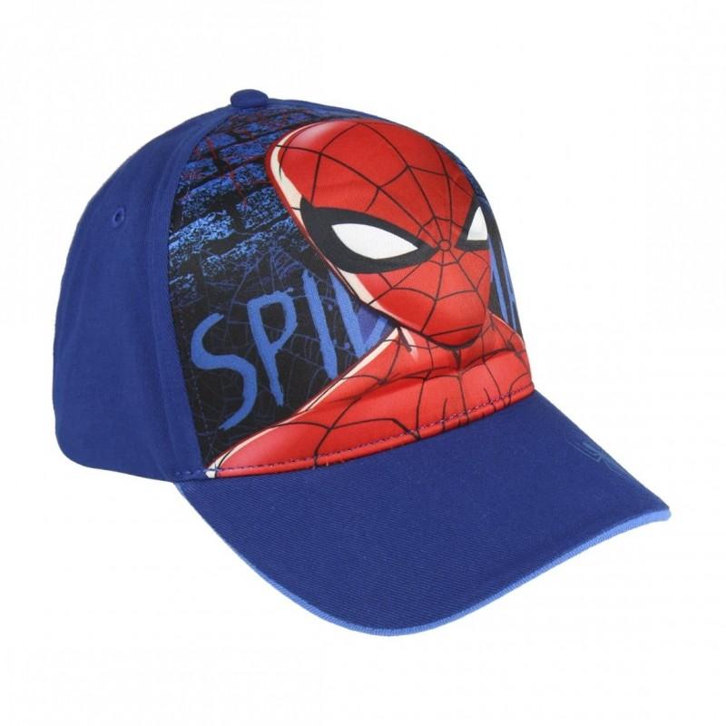 Chlapecká letní kšiltovka Spiderman modrá velikost 53 cm