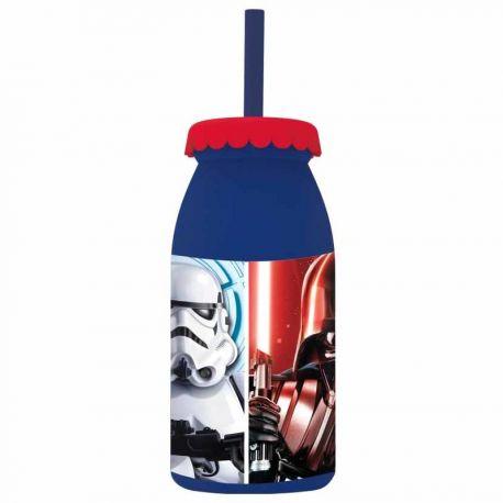 Plastová láhev s brčkem Star Wars Darth Vader a Stormtrooper 300 ml / vecizfilmu