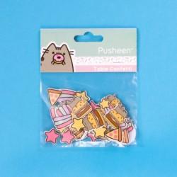 Sada papírových ozdobných konfet s kočičkou Pusheen 60 kusů / vecizfilmu