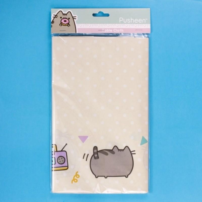 Papírový ubrus s kočičkou Pusheen 200 x 120 cm / vecizfilmu