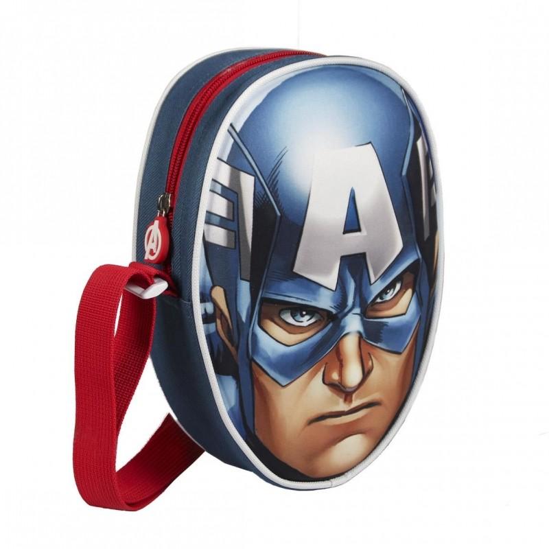 3D příruční taštička Avengers / Kapitán Amerika 12 x 19 x 6 cm