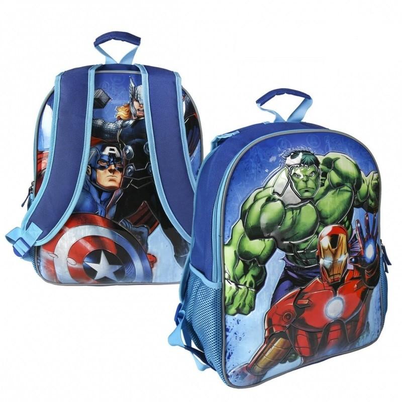 Oboustranný chlapecký batoh Avengers modrý 31 x 41 x 13 cm