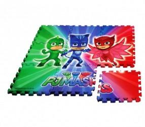 Dětské pěnové puzzle 9 dílů PJ Masks 90 x 90 cm Greg / Amaya / Connor / vecizfilmu