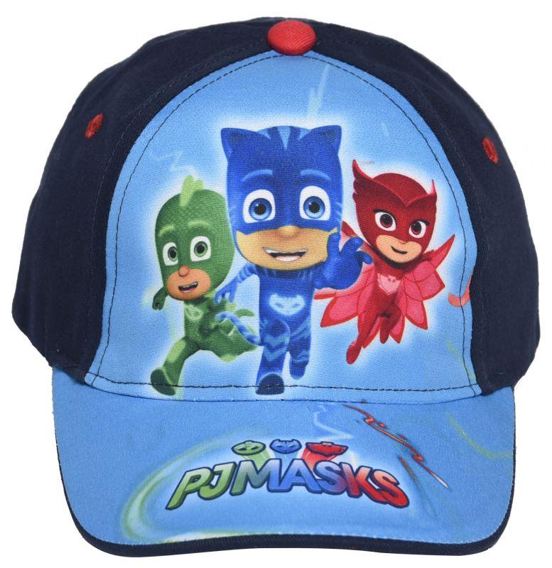 6925e665bd2 Chlapecká letní kšiltovka PJ Masks   velikost 50   52 cm modrá Greg   Amaya    Connor