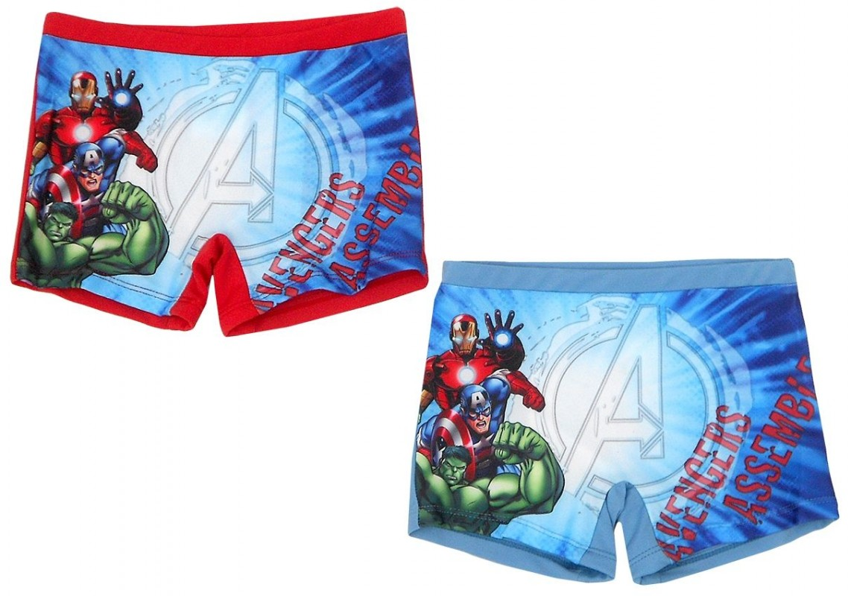 Chlapecké plavky Avengers 4 - 8 let Hulk / Iron Man / Kapitán Amerika