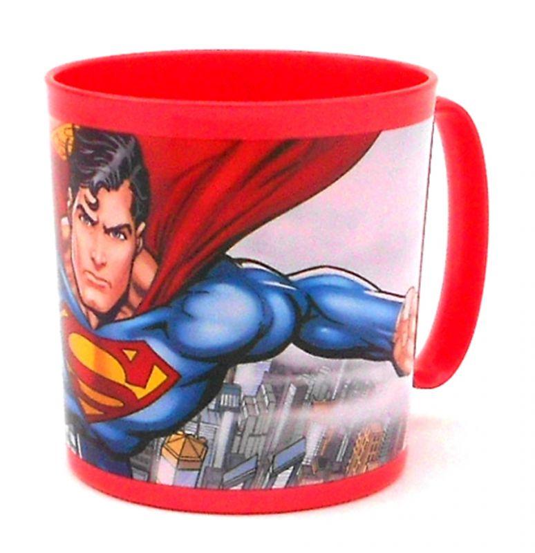 Plastový hrnek pro kluky Superman 350 ml červený