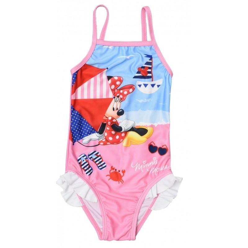 Jednodílné plavky pro nejmenší slečny s Myškou Minnie / Minnie Mouse velikost 6 - 24 měsíců