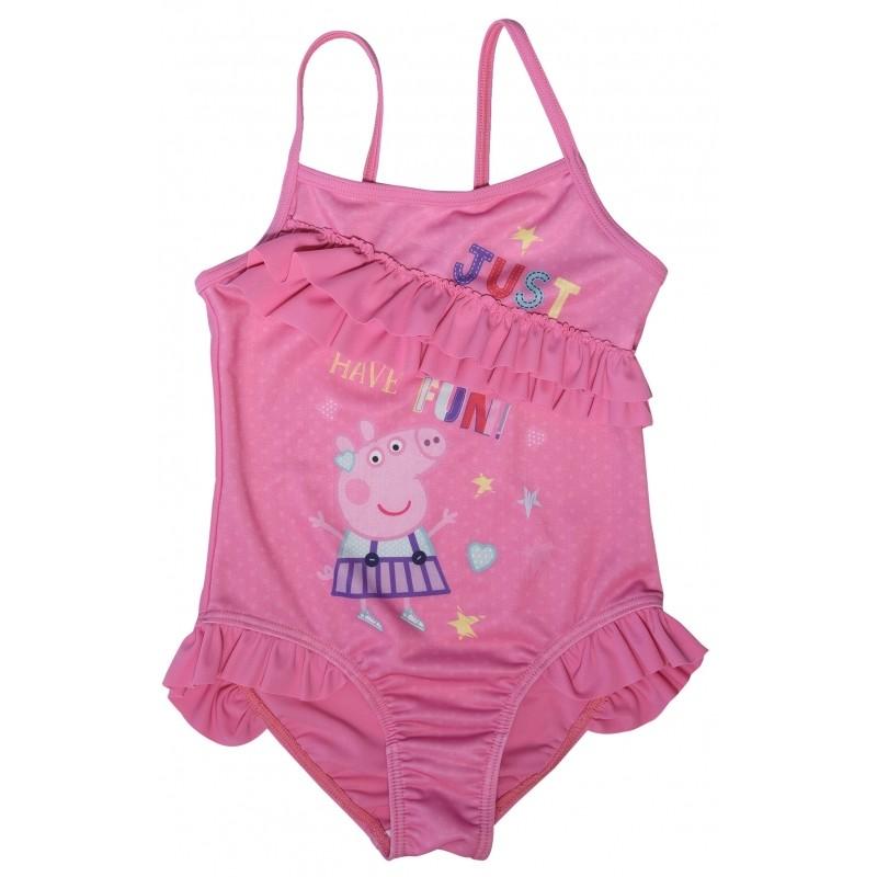 Dívčí jednodílné růžové plavky Prasátko Peppa / Peppa velikost 2 - 6 let