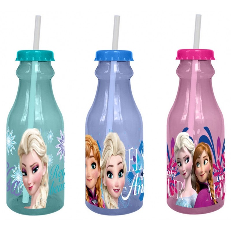 Plastová láhev s brčkem Frozen / 500 ml
