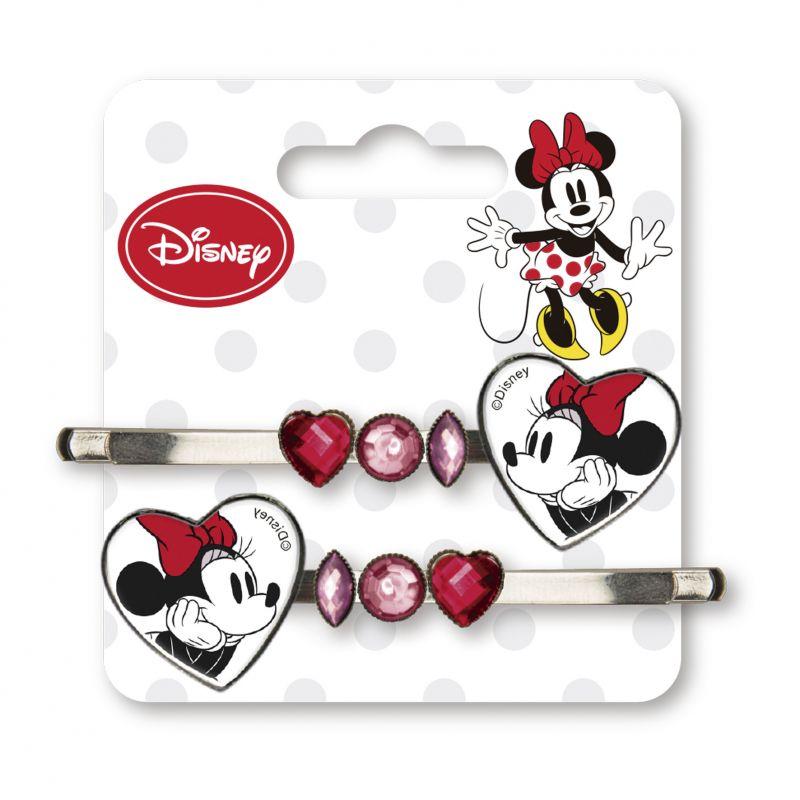 Kovové sponky do vlasů s Myškou Minnie / Minnie Mouse 2 ks / vecizfilmu