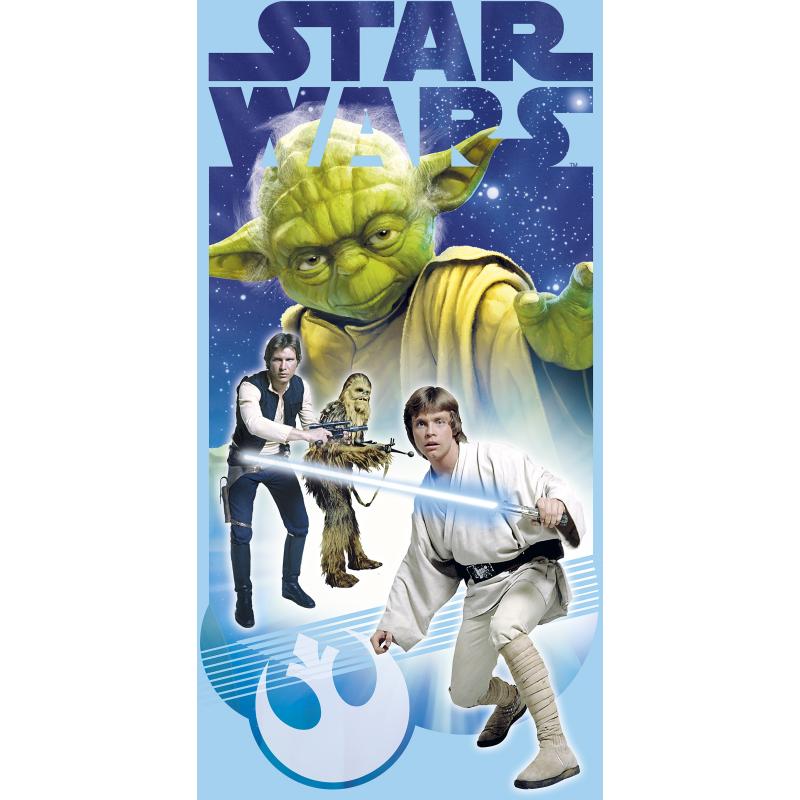 Plážová osuška Star Wars / 70 x 140 cm / modrá