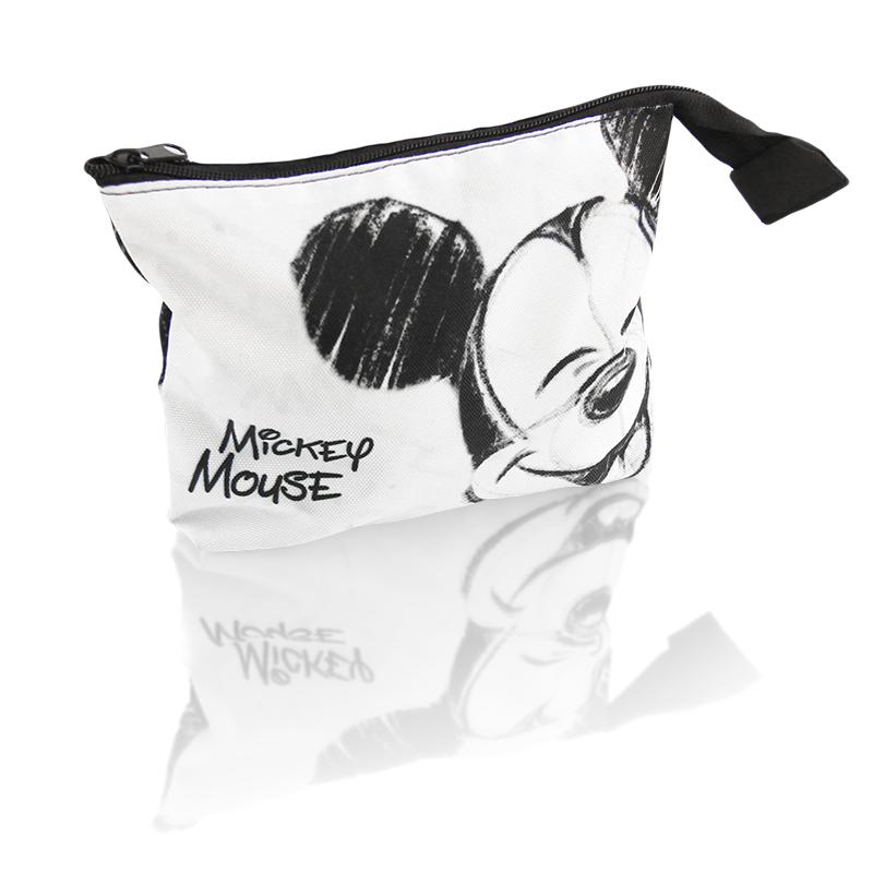 Kosmetická taštička na zip s Myšákem Mickey / Mickey Mouse bílo černá 19 x 15 cm