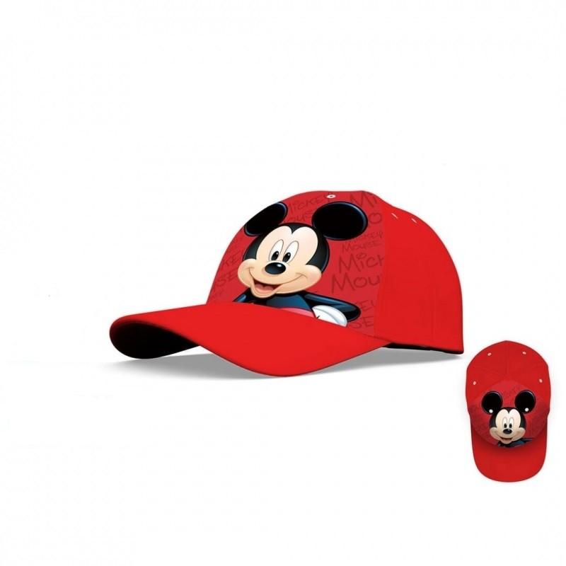 Dětská kšiltovka s Myšákem Mickey / Mickey Mouse červená velikost 52 / 54 cm