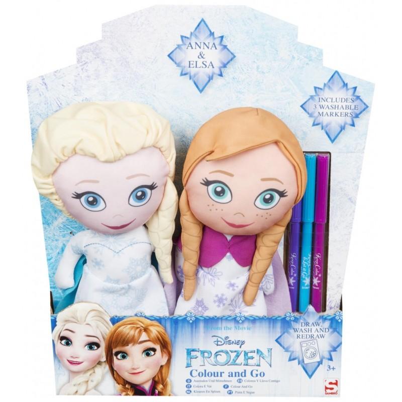 Látkové postavičky k vybarvení Frozen / Anna / Elsa