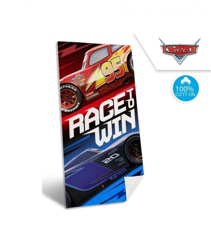 Plážová osuška / ručník / Cars Race win / 70 x 140 cm
