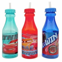 Plastová láhev s brčkem Cars / 500 Ml