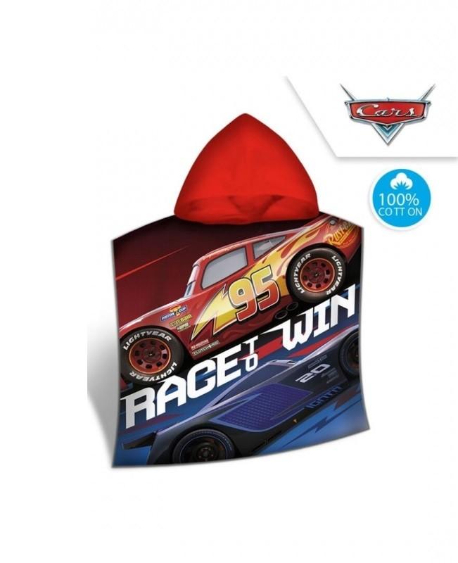 Pončo / ručník Cars / Race win / 120 x 60 cm