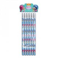 tužky s gumou Shimmer and Shine / 6 kusů v balení
