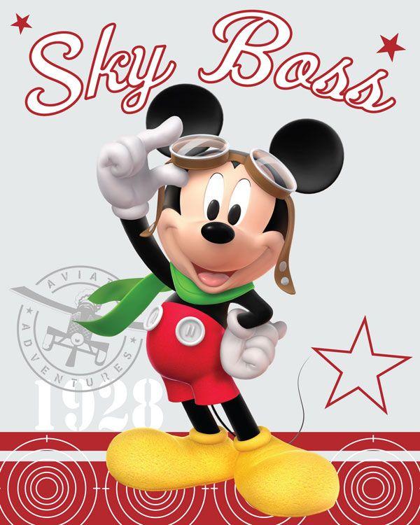 Fleece deka Mickey pilot 120/150