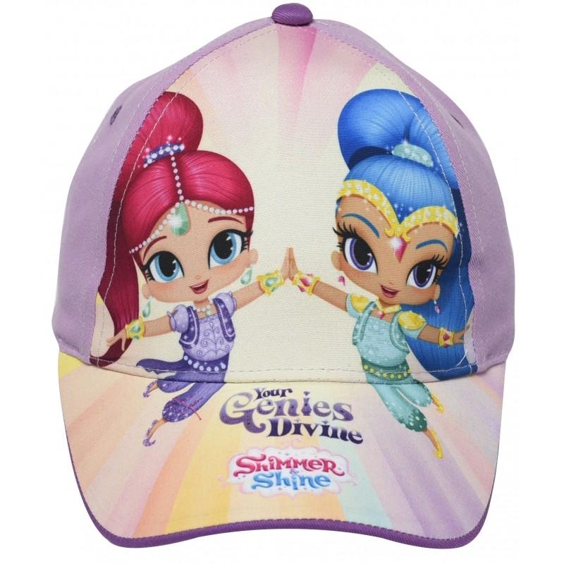 Letní kšiltovka pro holky Shimmer and Shine velikost 50 / 52 cm fialová
