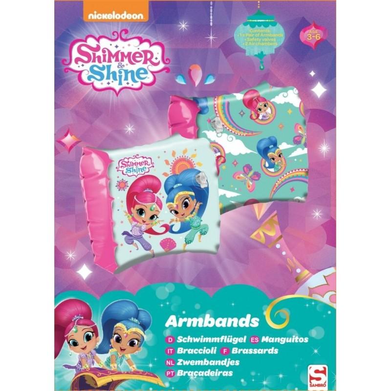 Nafukovací plavací rukávky Shimmer and Shine / Třpyt a Lesk