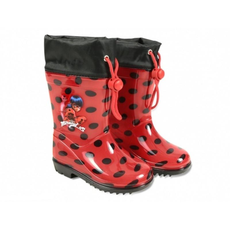 Dívčí gumáky s utahovací šňůrkou Miraculous Ladybug / Zázračná Beruška 32 / 33