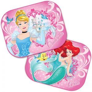 Sada 2 ks slunečních clon do auta Princess / Malá mořská víla Ariel a Popelka 44 x 35 cm