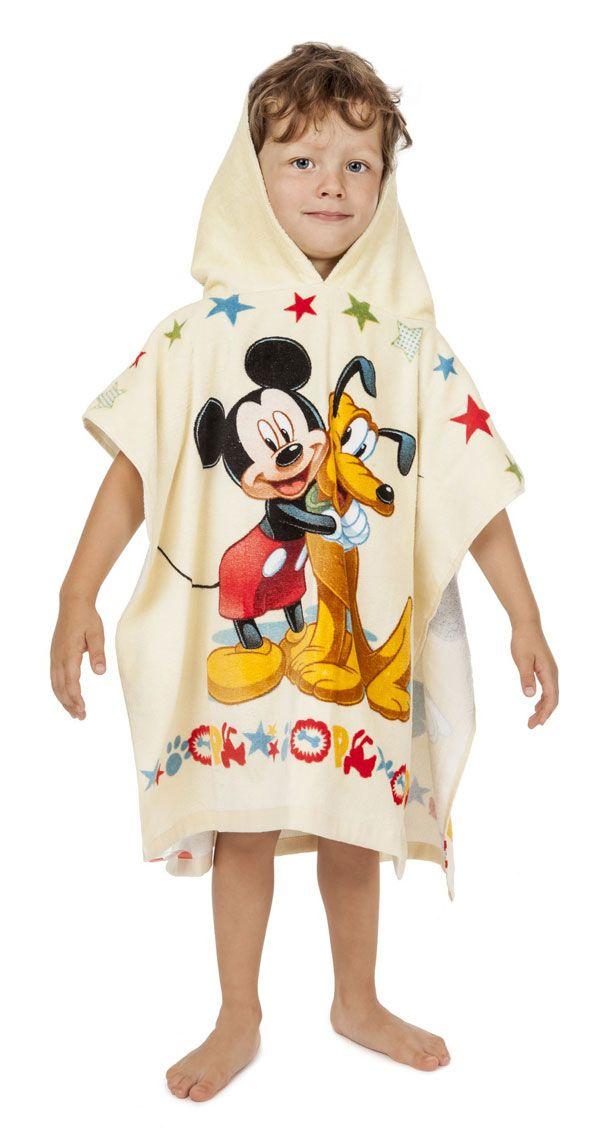 Plážová osuška pončo Mickey Mouse