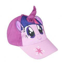 Dívčí 3D kšiltovka s rohem My Little Pony velikost 53 fialová