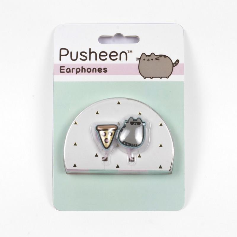 Dívčí sluchátka / špunty s línou kočičkou Pusheen
