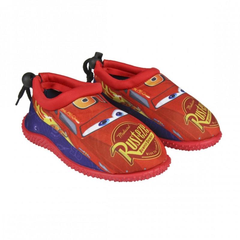 Chlapecké boty do vody na utahovací šňůrku s oblíbeným sporťákem Bleskem McQueenem / Cars velikost 30