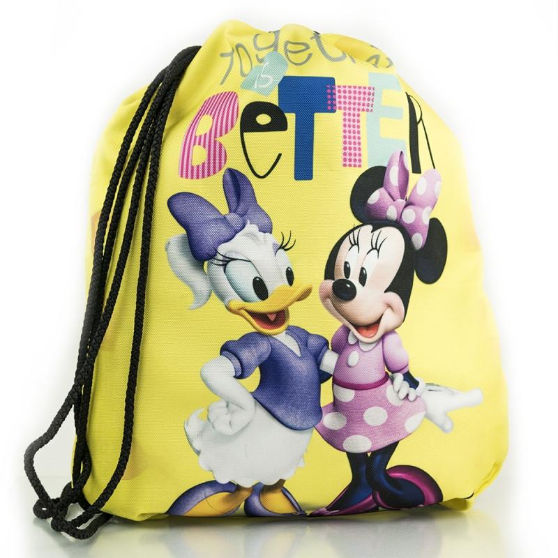 Sportovní pytlík / gym bag Myška Minnie / Minnie Mouse žlutý 35 x 40 cm