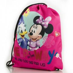 Sportovní pytlík / gym bag Myška Minnie / Minnie Mouse růžový 35 x 40 cm
