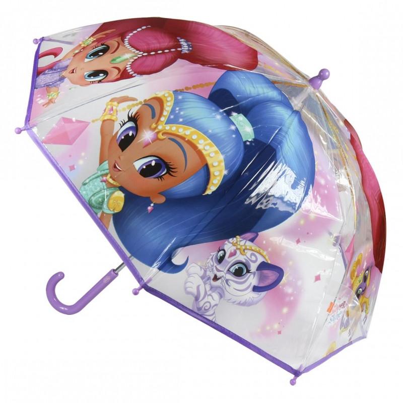 Dívčí manuální deštník Shimmer and Shine / 42 cm