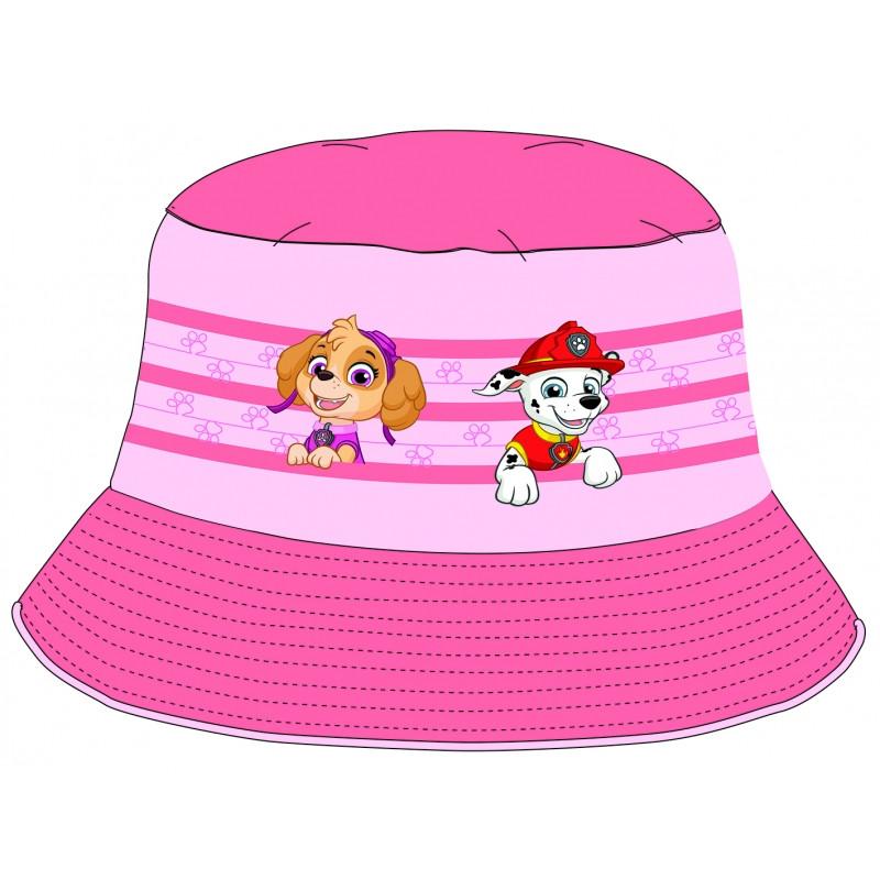 Dívčí letní klobouček Tlapková Patrola / Paw Patrol růžový