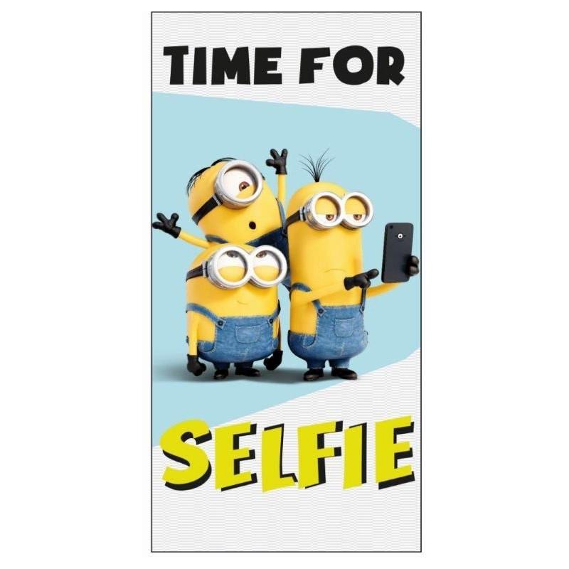 Plážová osuška Mimoni Selfie / Minions / 70 x 140 cm