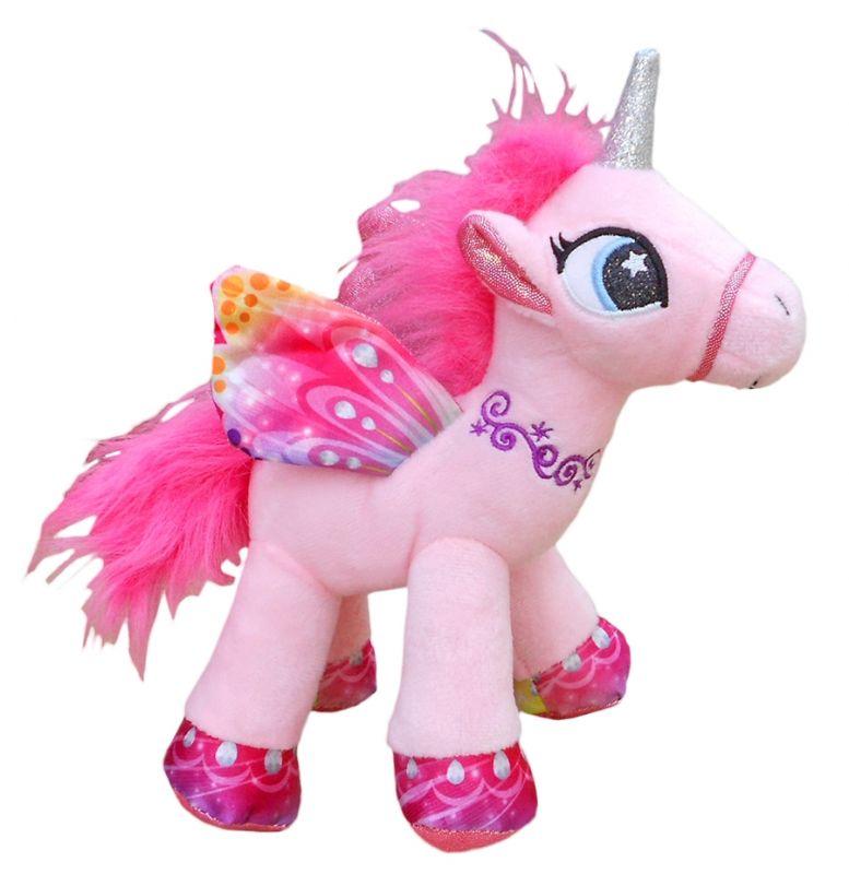 Plyšový okřídlený Jednorožec / Unicorn růžový velikost 29 cm