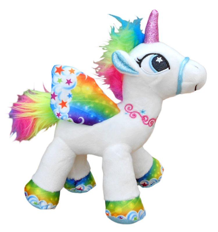 Plyšový okřídlený Jednorožec / Unicorn barevný velikost 29 cm