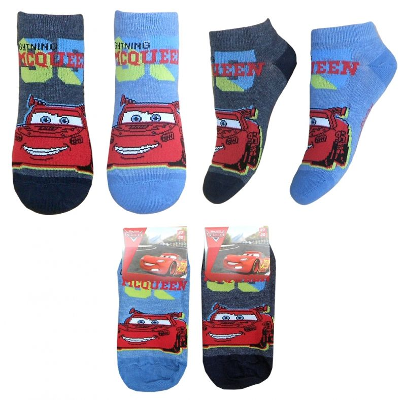 Chlapecké kotníkové ponožky s Bleskem McQueenem Cars / Auta 23 - 26