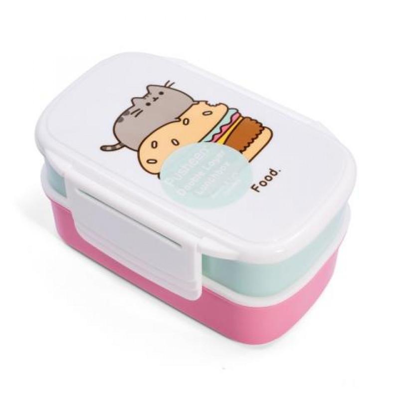 Patrová krabička s přihrádkami na svačinu s kočičkou Pusheen 13 x 20 x 10 cm / vecizfilmu
