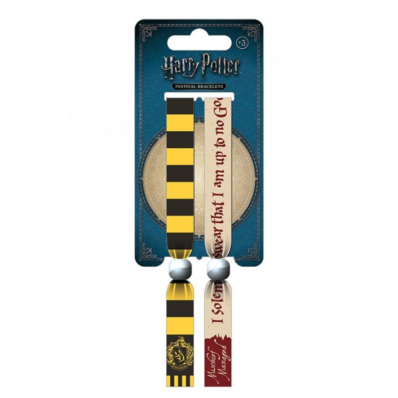 Sada 2 ks látkových náramků na ruku Harry Potter / Hufflepuff