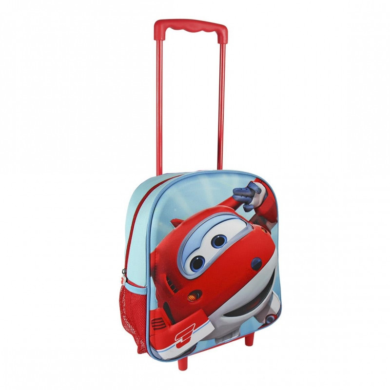Chlapecký 3D batoh na kolečkách s rukojetí Super Wings rozměr 25 x 31 x 10 cm
