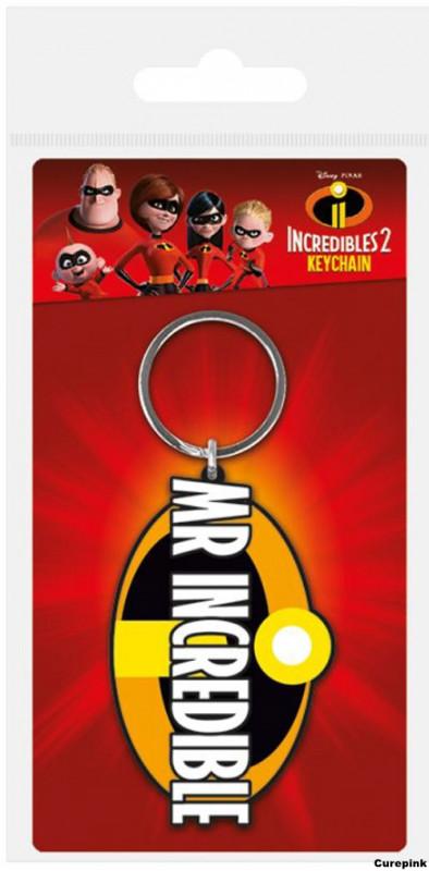 Přívěsek na klíče Incredibles 2 / Úžasňákovi Mr Incredibles / Pan Úžasňák  / 4,5 x 6 cm