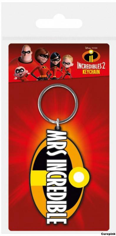 Přívěsek na klíče Incredibles 2 / Úžasňákovi Mrs Incredibles / Paní Úžasňáková / 4,5 x 6 cm