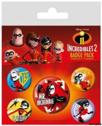 Odznaky / Placky / Incredibles2 / Úžasňákovi 2 / 5 ks / veci z filmu